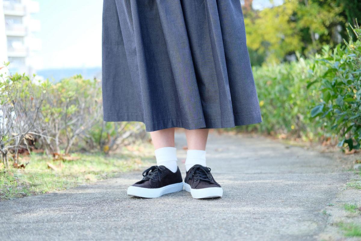 つつみデニムスカート着用2