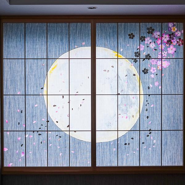 京都三井ガーデンホテルのデニムの障子京都デニムインテリア