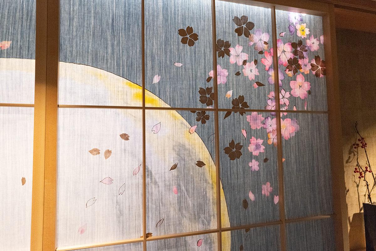 京都三井ガーデンホテルのデニムの障子