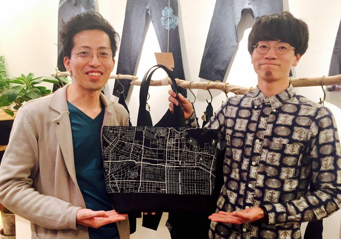 左:京都デニム店長宮本 右:ハシグチケントさん