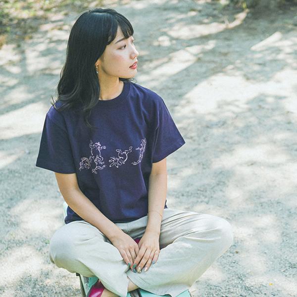 鳥獣人物戯画Tシャツ