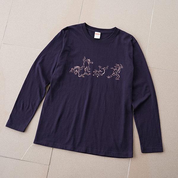 鳥獣戯画ロングTシャツ1-1