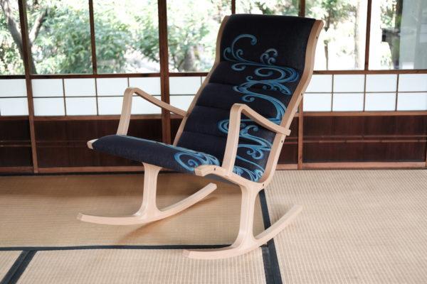 京都デニムインテリアデニム天童木工ロッキングチェア