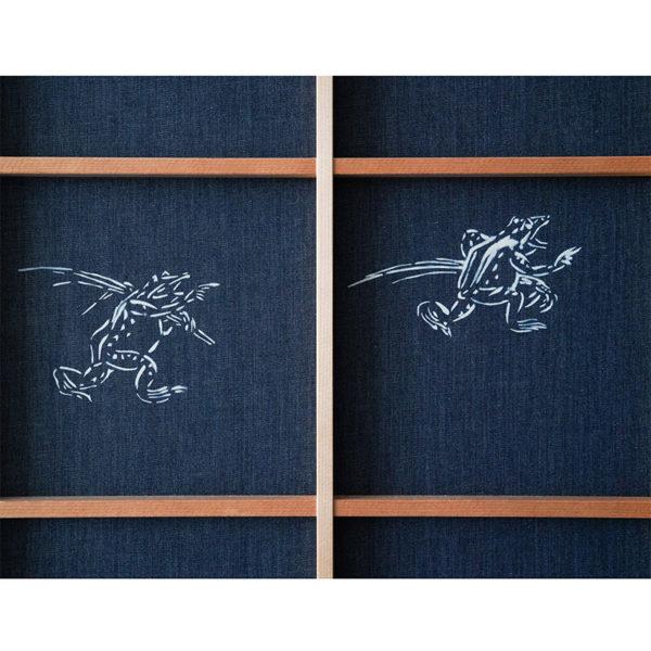 鳥獣戯画柄 障子1-7