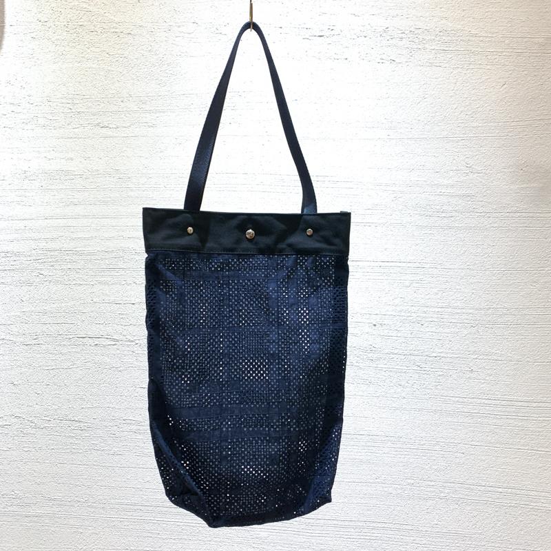 花織格子トートバッグ