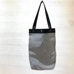 Mesh tote bag (gray)