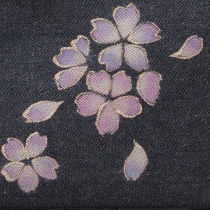 ミニドクターショルダーバッグ|伝統工芸京友禅染め 薄紅紫小桜文様金彩くくり(1点もの)
