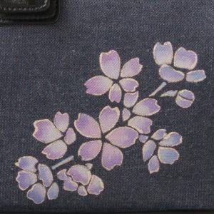 ミニドクターショルダーバッグ|伝統工芸京友禅染め 薄紅紫宴桜文様金彩くくり(1点もの)