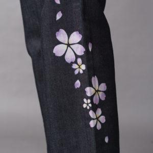 [Ya 25英寸]傳統工藝Kyoyuzen染成紫色的舞蹈櫻花圖案(XNUMX件)