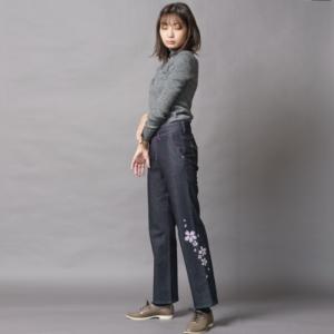 【雅25インチ】伝統工芸京友禅染め 紫舞桜文様(1点もの)