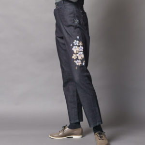 【花火26インチ】伝統工芸京友禅染め金彩重ね 宴さくら文様(1点もの)