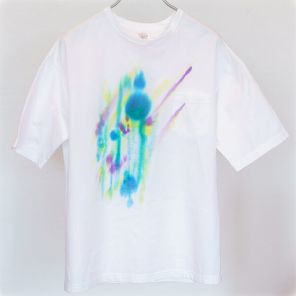5.6オンス ゆったりオーバーTシャツ Lサイズ【虹ぼかし染め】