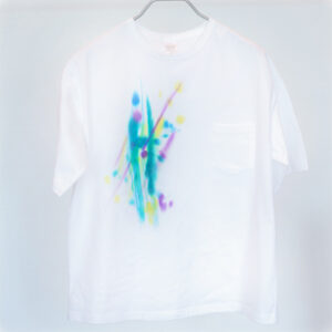 5.6オンス ゆったりオーバーTシャツ Mサイズ【虹ぼかし染め】