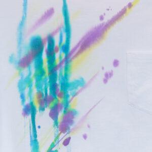 5.6オンス ゆったりオーバーTシャツ Sサイズ【虹ぼかし染め】