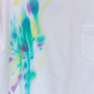 5.6オンス ゆったりオーバーTシャツ XLサイズ【虹ぼかし染め】