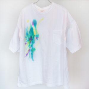 5.6オンス ゆったりオーバーTシャツ 【虹ぼかし染め】