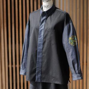 ショートカラーデニムシャツ