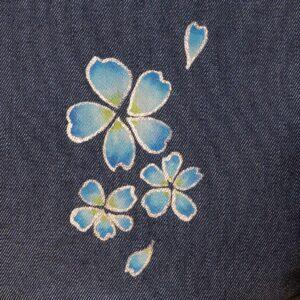 花形ショルダーバッグ|桜吹雪文様金彩くくり【十】(1点もの)