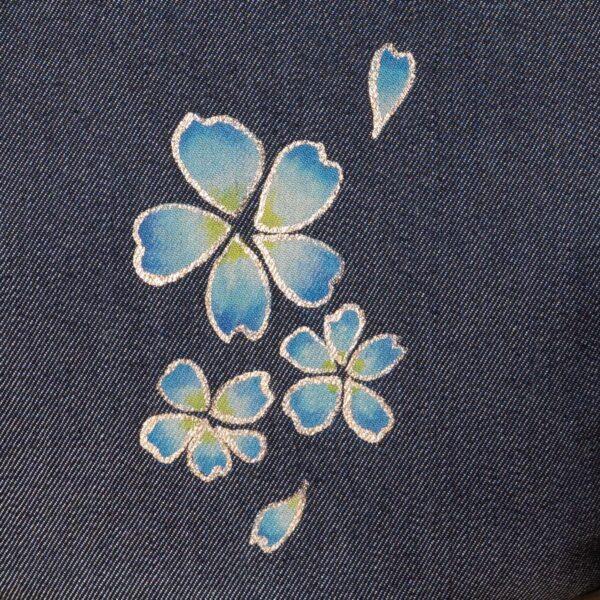 花形ショルダーバッグ 桜吹雪文様金彩くくり【十】(1点もの)