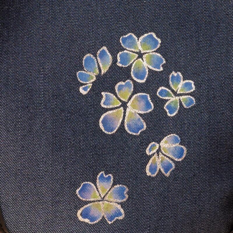 花形ショルダーバッグ|桜吹雪文様金彩くくり【五】(1点もの)