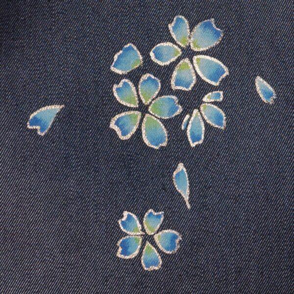 花形ショルダーバッグ|桜吹雪文様金彩くくり【八】(1点もの)