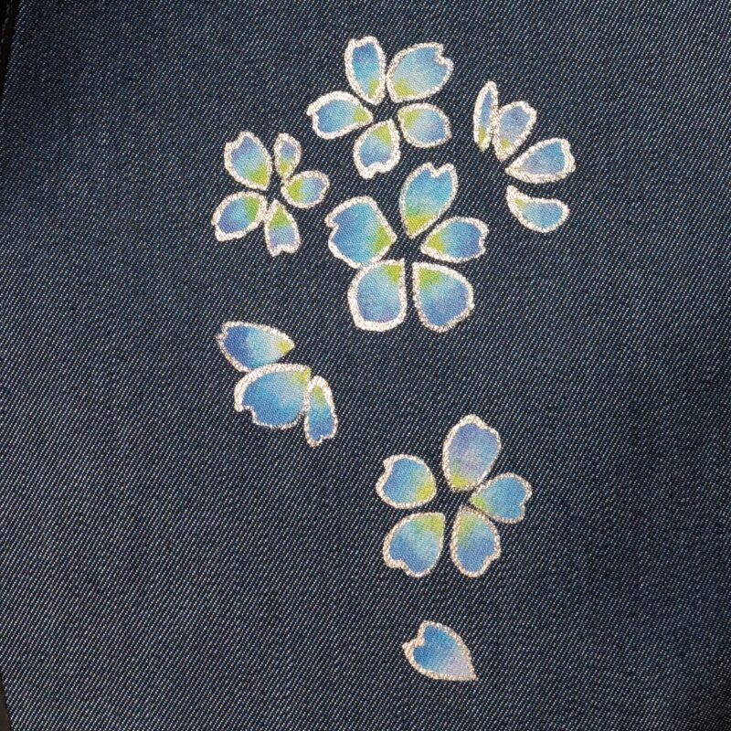 花形ショルダーバッグ|桜吹雪文様金彩くくり【三】(1点もの)