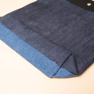 Cabas en denim | Commutation double face bleu marine & bleu