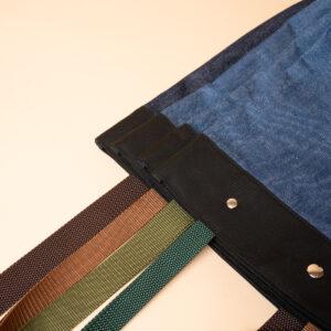 Selectable shoulder strap color variations