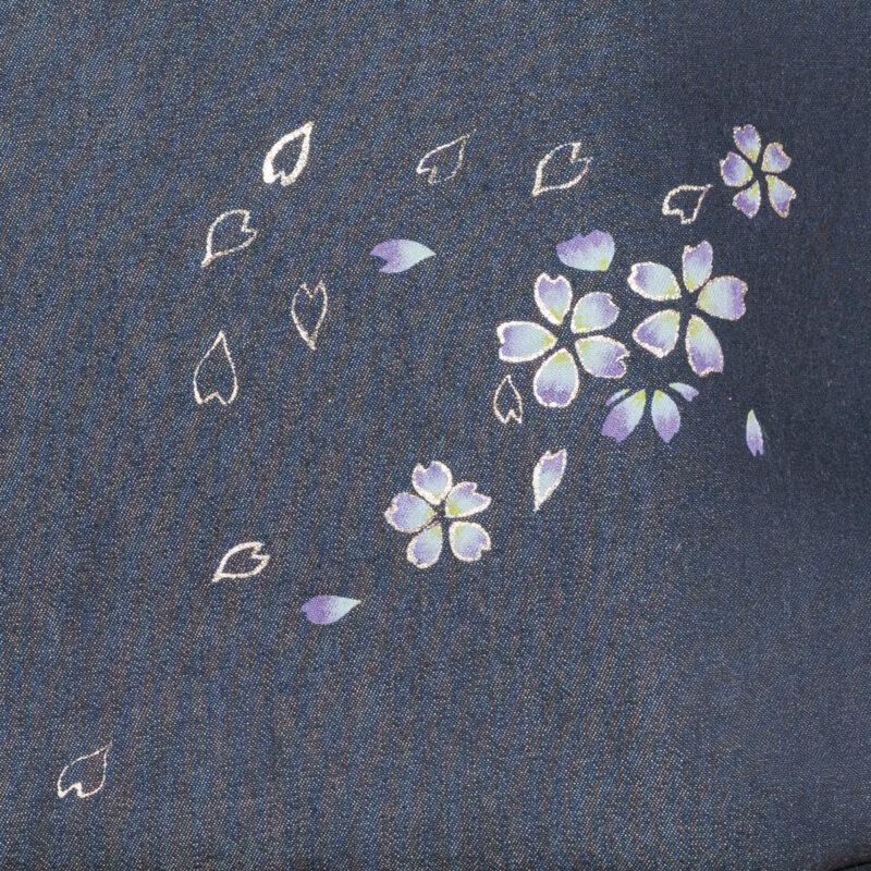ラウンドトートバッグ|伝統工芸京友禅染め さくら文様金彩輪郭桜(1点もの)
