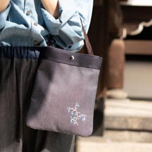 2wayデニムサコッシュ |伝統工芸京友禅染め【十六】(1点もの)