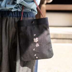 2way Sakura Denim Sakosh | Traditional Craft Kyoto Yuzen Dyeing [XNUMX] (XNUMX item)