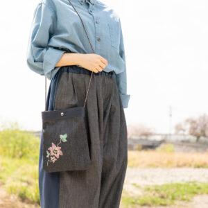 2way Denim Sacoche oche Traditionelles Handwerk Kyoto Yuzen Färben [XNUMX] (XNUMX Stück)