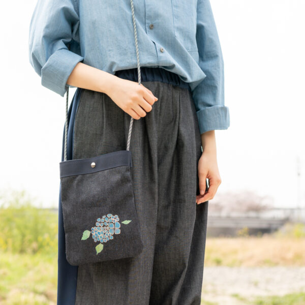 2way denim sacoche | Traditional craft Kyoto Yuzen dyeing [XNUMX] (XNUMX item)
