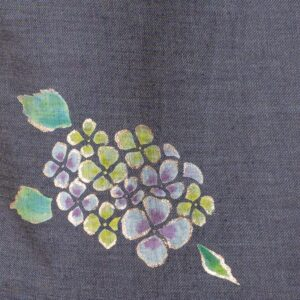 Denim tote bag | Hydrangea (one-of-a-kind)