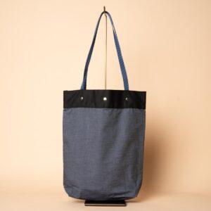 Denim tote bag | Braid on the ball (one-of-a-kind)