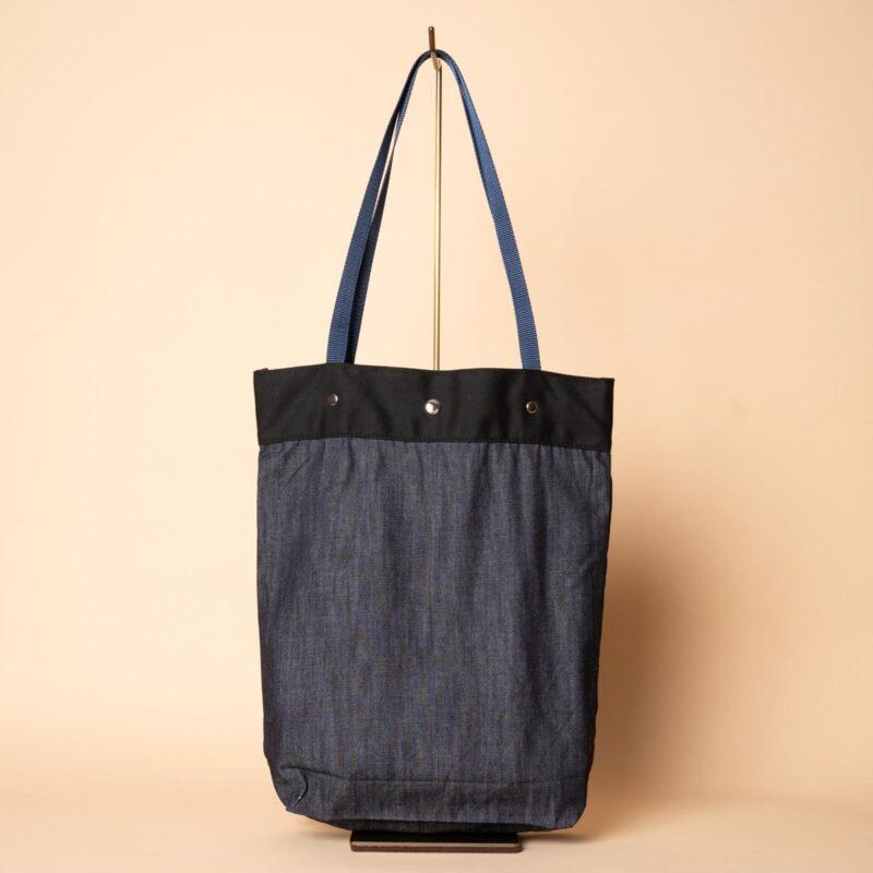 デニムトートバッグ|桔梗(一点もの)
