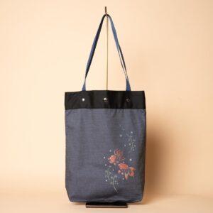 Sac cabas en denim | Teinture Kyoto Yuzen