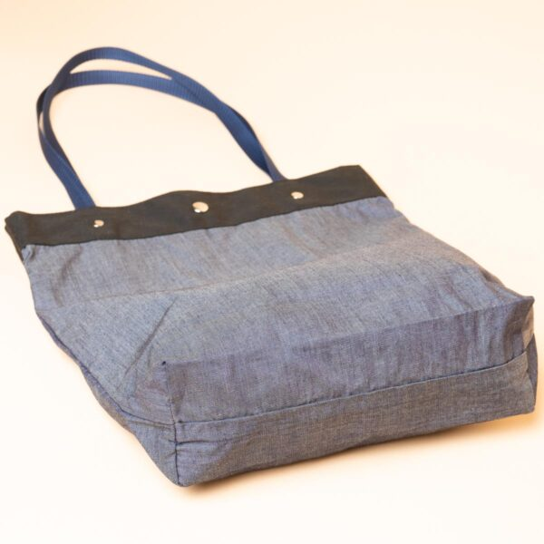 Denim tote bag | Kyoto Yuzen dyeing