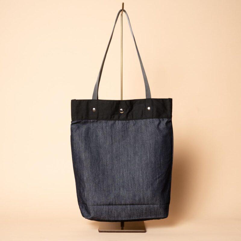 デニムトートバッグ|桜 金彩重ね(一点もの)