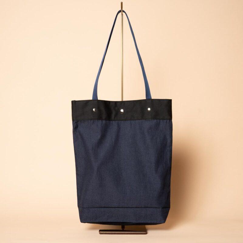 デニムトートバッグ|つばき(一点もの)