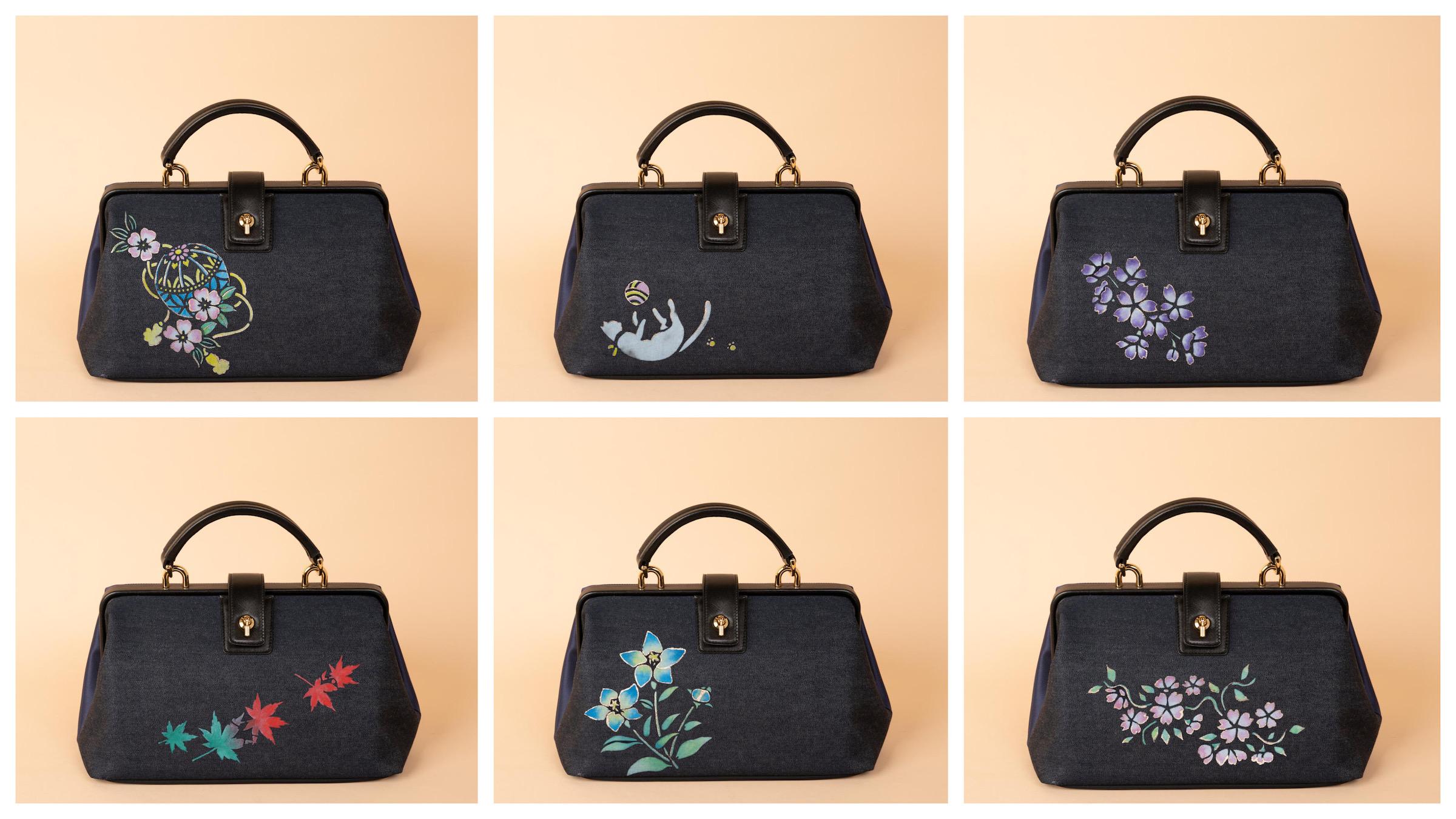 京都デニムのバッグに京友禅染めをオーダーする|オーダーメイドの楽しみ方